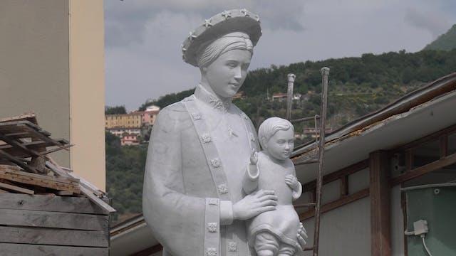 Estatua del mármol que usó Miguel Áng...