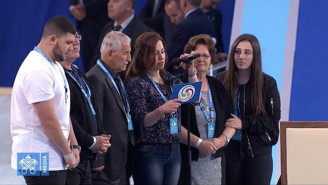 La familia iraquí que habló al Papa d...