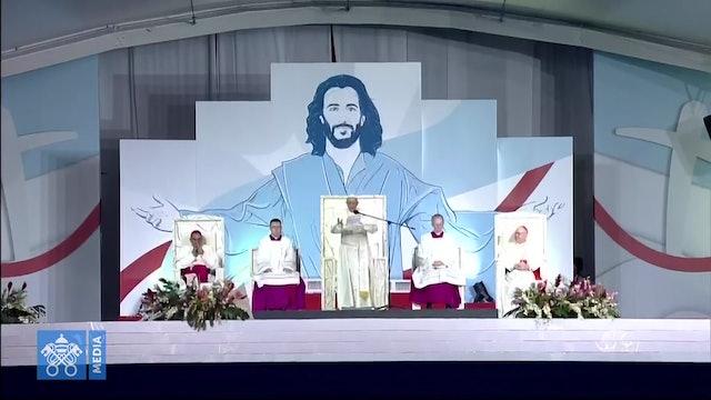 """El Papa en la vigilia con los jóvenes: Sean como María, la """"influencer"""" de Dios"""