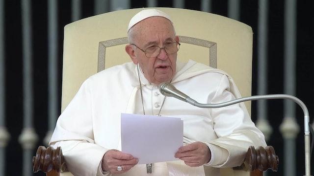 Papa explica en audiencia la primera petición del Padrenuestro: Danos el pan