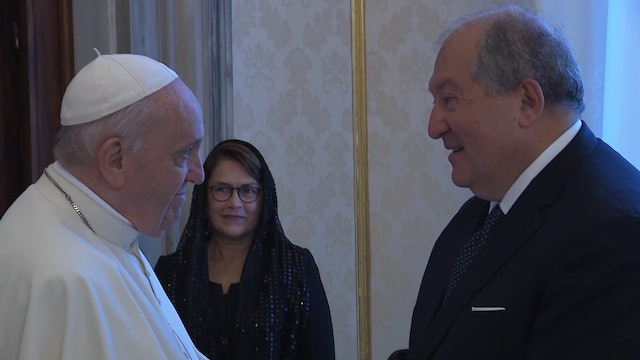 President of Armenia asks for Vatican aid in returning prisoners of war