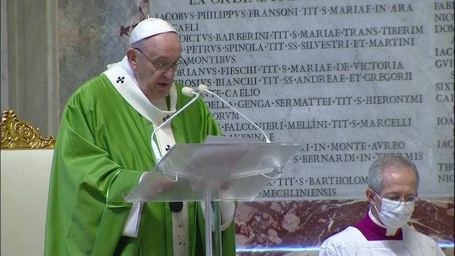 Papa: El cristiano no puede jugar a la defensiva y limitarse a cumplir reglas