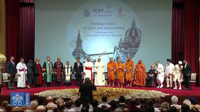 Papa a otras religiones: Que el diálo...