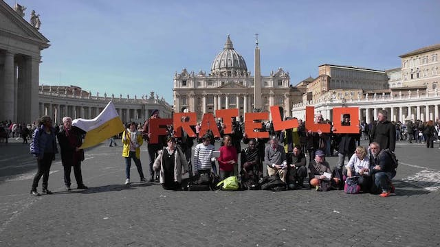 Homeless pilgrims travel from Paris t...