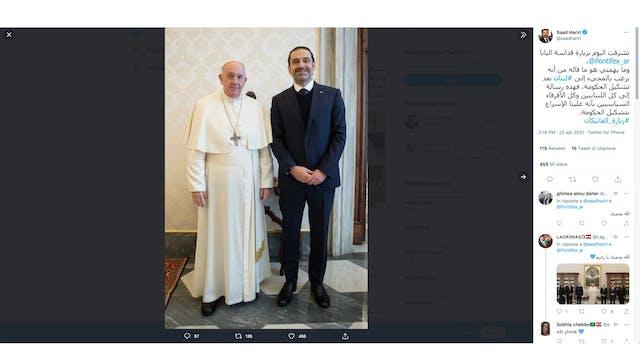 Saad Hariri asks the Pope to help Leb...