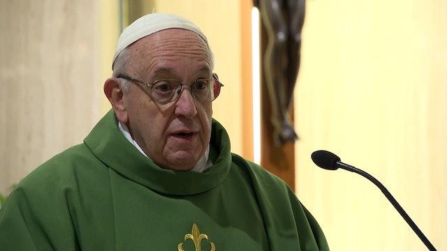 Papa en Santa Marta: Podemos curar con la paciencia, con un consejo, una mirada