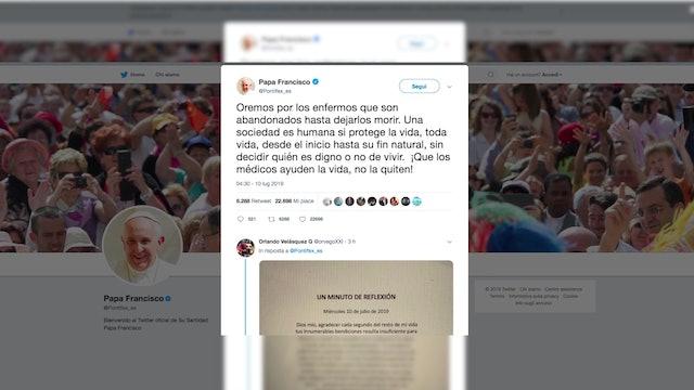 Contundente petición del Papa a favor de Vincent Lambert