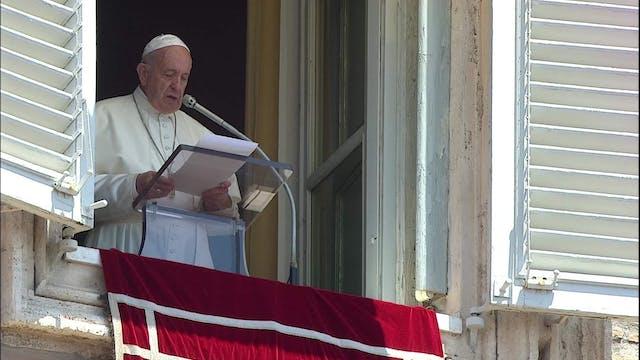 Papa en el Ángelus: No sigáis la lógi...