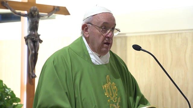 El Papa en Santa Marta: Dios no niega...