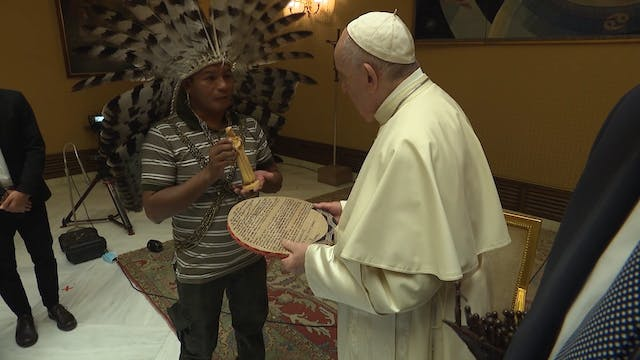 Pope Francis meets with Catholic clim...