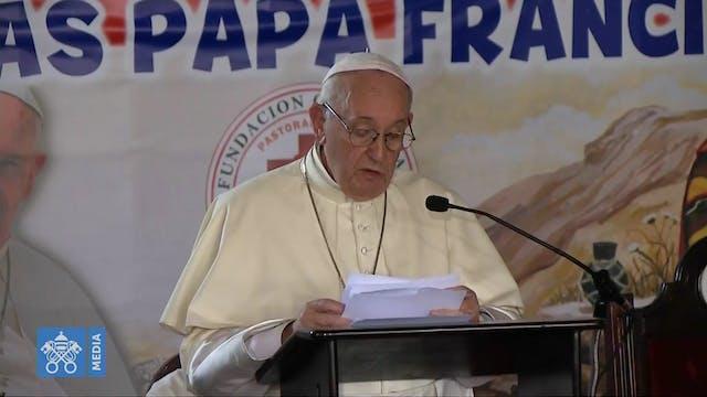El Papa pide una solución justa y pac...