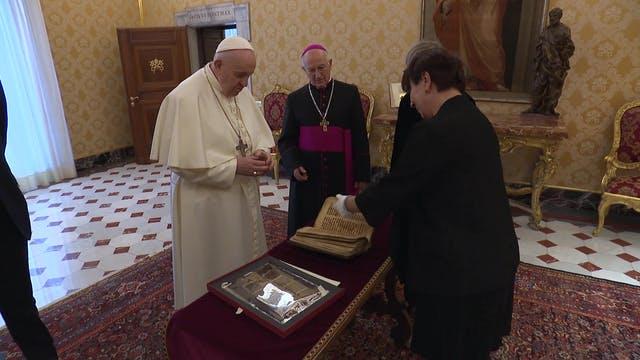 Pope Francis got to see ancient Chris...