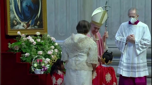 Papa celebra misa por los 500 años d...