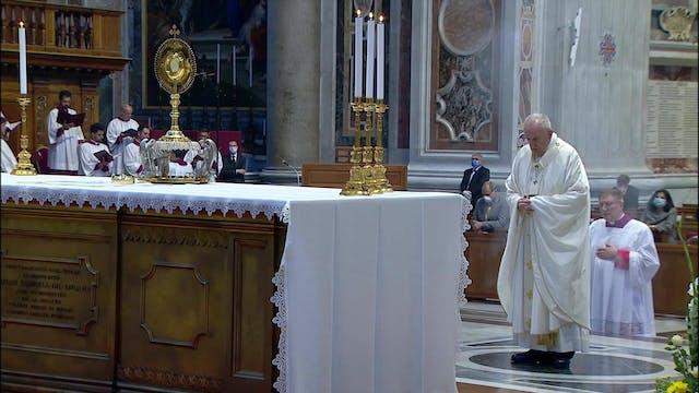 Papa: Dios nos cura de la falta de ca...