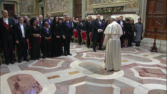 Pope to diplomats: Politics is forwar...