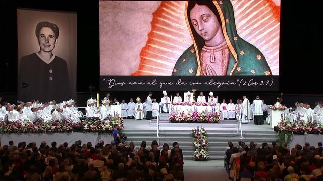 El Papa pide un aplauso para Guadalup...