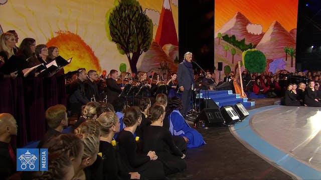 Andrea Bocelli interpreta una conmove...