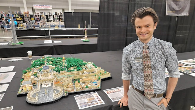 Lego artist builds first-ever model of Vatican City State
