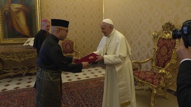 Nuevo embajador de Malasia entregó sus cartas credenciales al Papa