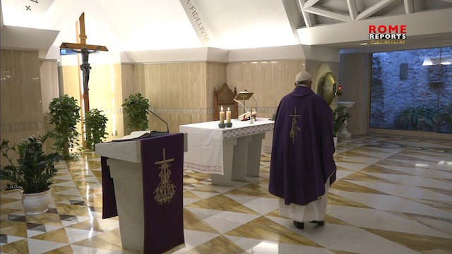 Pope at Santa Marta reflects on cover...