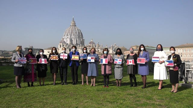 Ambassadors to the Holy See make vide...