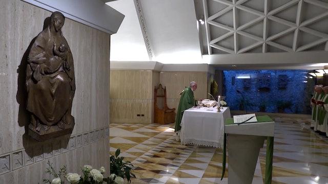 Francisco en Santa Marta: El mundo trata de esconder la sangre de los mártires