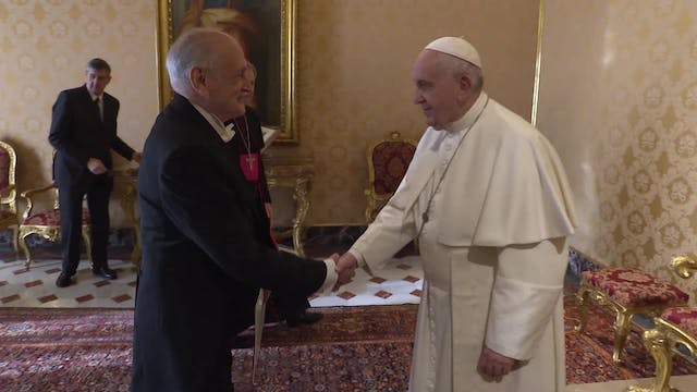 Pope Francis meets with Paraguayan Am...