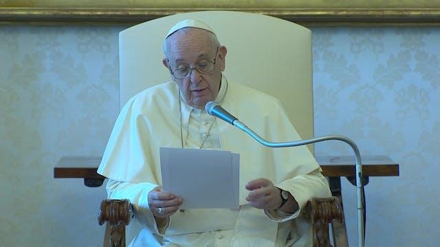 Papa reflexiona sobre patologías soci...