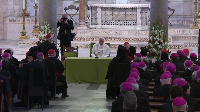 Papa se reúne con obispos del Mediter...