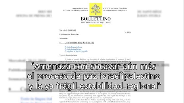 Santa Sede rechaza cambio de postura ...