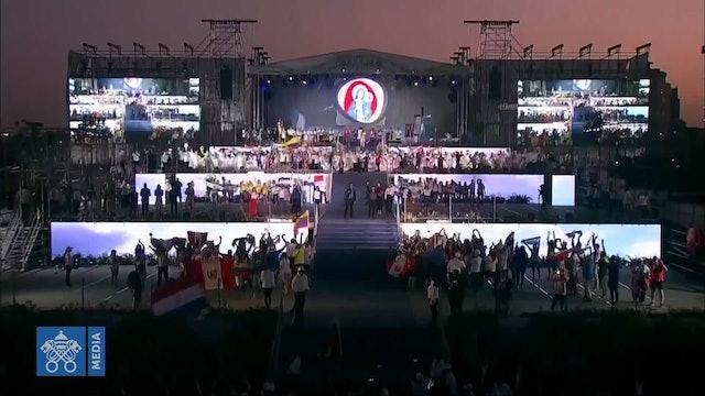 El himno de la JMJ pone el broche de oro a la ceremonia de apertura