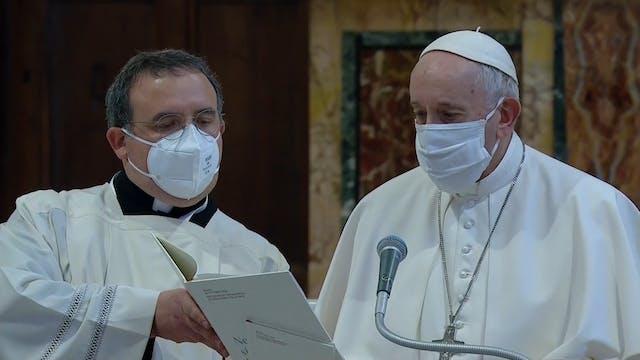 Viaje papal: Pasaporte covid para asi...