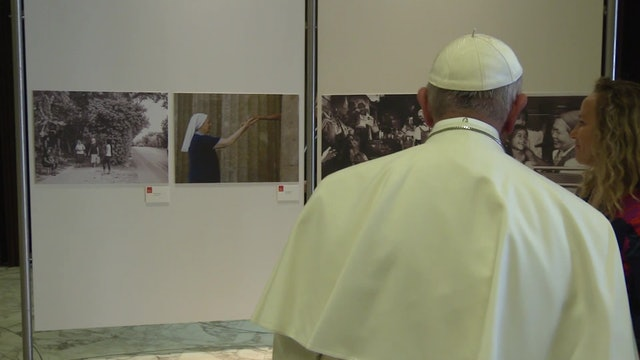 Pope inaugurates exhibition against human trafficking