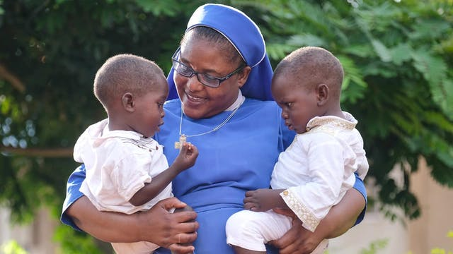Sister saving deformed orphaned child...