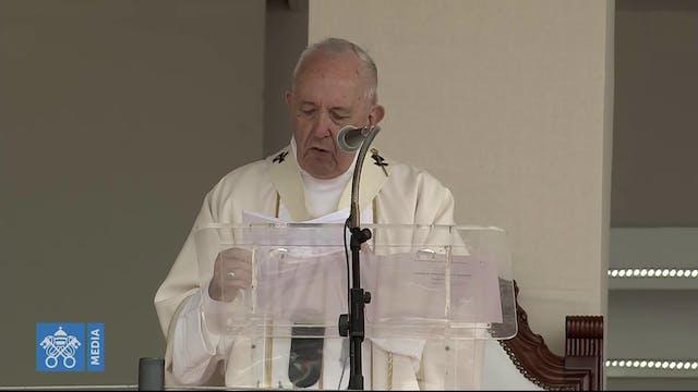 El Papa celebra Misa en la isla Mauri...