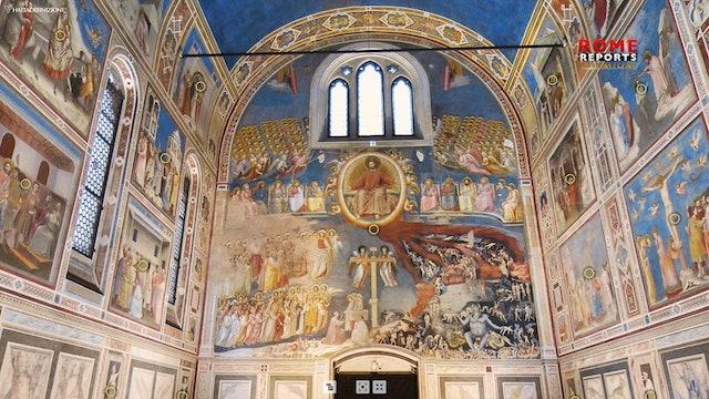 Espectacular visita virtual a frescos pintados por Giotto hace 700 años