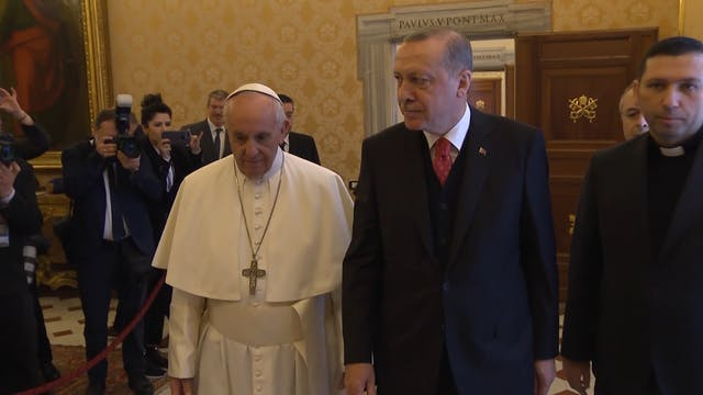Pope Francis and President of Turkey ...