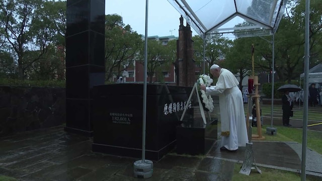 Pope speaks out against nuclear weapons in Nagasaki