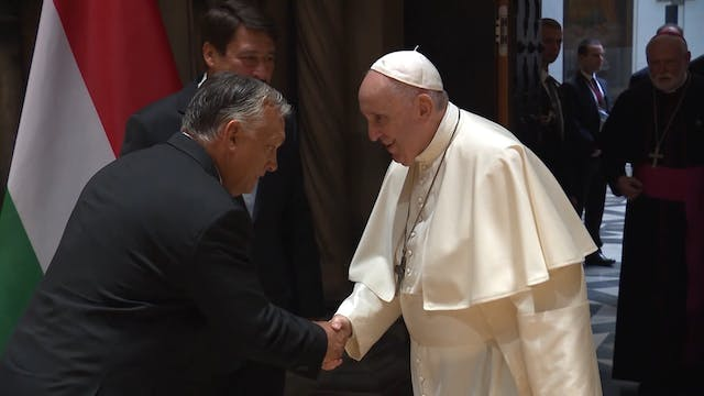 Pope Francis meets with Hungarian PM,...