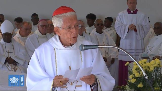 El cardenal Maurice Piat cumple 80 añ...