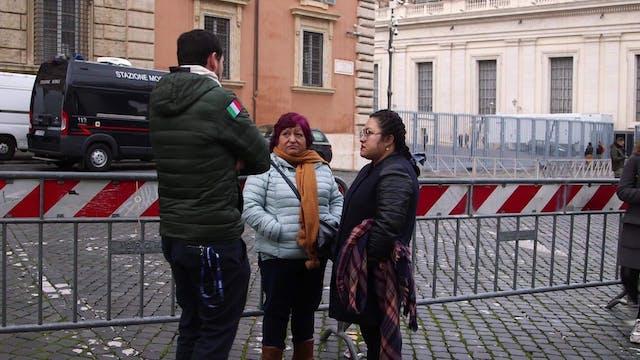 De Perú al Vaticano: peregrinos devue...