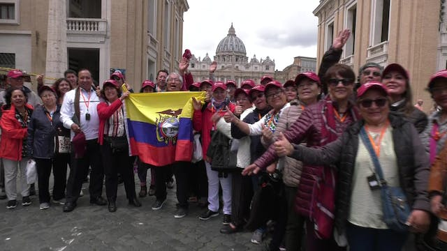 Pilgrims travel from Quito to Rome to...