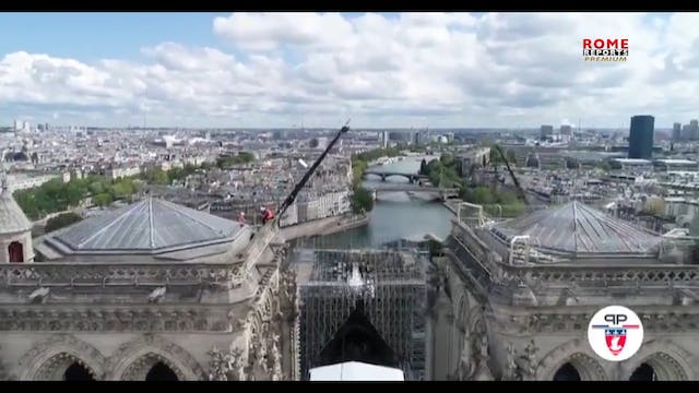 Spectacular roof protection for Notre...
