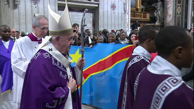 Papa a la comunidad congoleña: Rezo p...