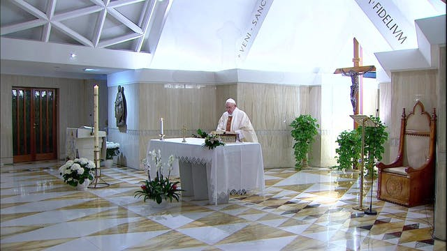 Papa rezó por políticos para que busq...