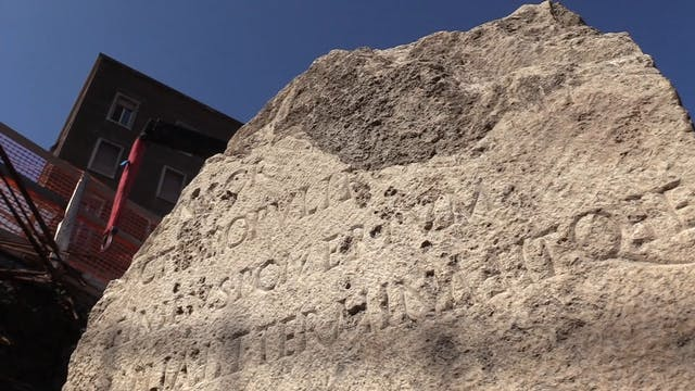Ancient Roman landmark uncovered duri...