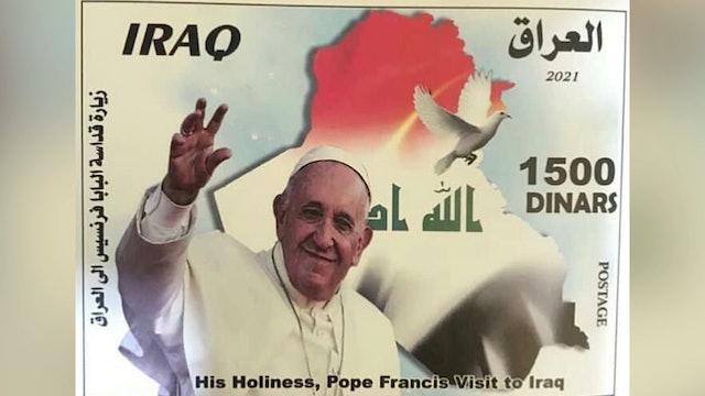 Irak publica sellos con el rostro del Papa para recordar su viaje