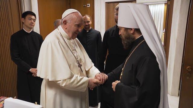 El Papa y el Patriarca ortodoxo de Mo...