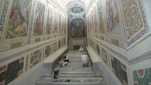 La Scala Santa mostrará los escalones...
