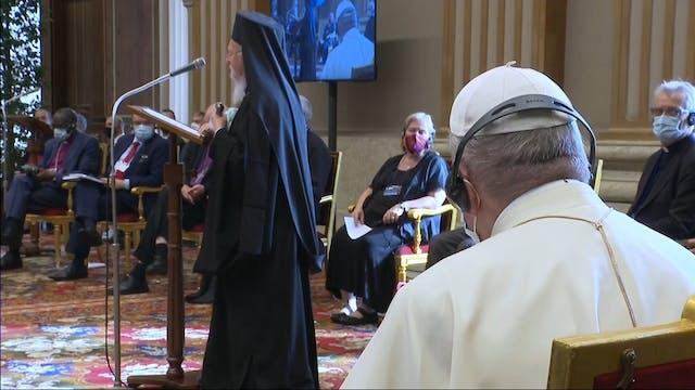 Líderes religiosos firman en Vaticano...